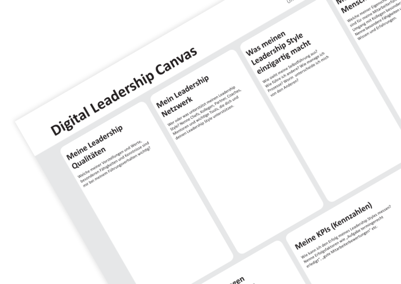Digital Leadership Canvas on innovationcat