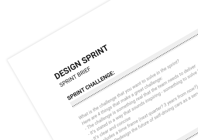 Design Sprint Brief on Innovation Cat