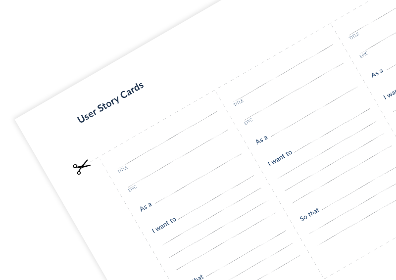 Userstory card template on innovation cat